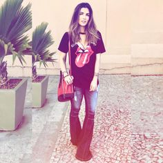 "699 curtidas, 19 comentários - THE BLEND SHOP #girlpower (@theblendshop_) no Instagram: ""Um mês pro Rock in Rio Camiseta Rolling Stones ✨R$ 79,00✨ @alinegoficial"""
