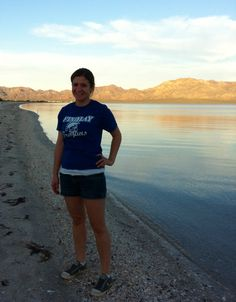 My beautiful wife on our secluded beach near Mulege. It was another great spot.