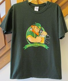 Available in our eBay store...click photo for details.....  Irish Comedy Tour Slogan T-Shirt Tee Large Green St Patrick's Day St Paddy's GUC #Gildan #ShortSleeve #Irish #Ireland #StPatricksDay #holiday #drinking #beer #bar #shirt #tee #t-shirt #green #comedy