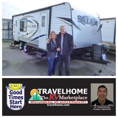 Congratulations to Terry & Leah on the purchase of their Salem 25S #traveltrailer from Al! #SalemRV #Travel #Travelhome #camping #RVing #vacation