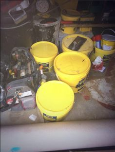 Van loaded for tomorrow morning #YellowBucketsOnTour #F44 #StopGap400 @F. Ball and Co. Ltd.