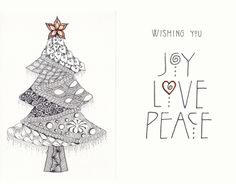 The NEW Ramblings Of A Creative Mind Christmas Card Zentangle Wishes For You