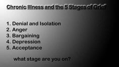 Chronic Illness & the 5 Stages of Grief.