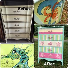 Hand painted Seahorse and Mermaid...Perfect for that Beach House!
