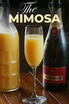 How to make a Mimosa Frozen Drink Recipes, Frozen Cocktails, Martini Recipes, Sangria Recipes, Easy Cocktails, Beer Recipes, Margarita Recipes, Punch Recipes, Fun Drinks