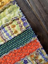 "Just Another Hang Up: ""Rag Quilted Table Runner"" Tutorial..."