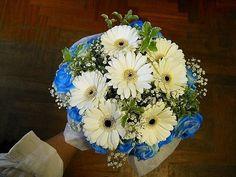 Bouquet Sposa blu e bianco!