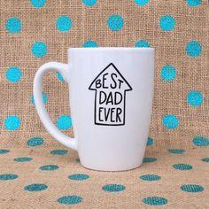 Funny Dad Coffee Mug - Best Dad Ever Coffee Mug - Hand Painted Coffee Mug - Father's Day Coffee Mug Cheap Coffee Mugs, Disney Coffee Mugs, Coffee Mugs Vintage, Painted Coffee Mugs, Best Coffee Mugs, Disney Mugs, Unique Coffee Mugs, Funny Coffee Mugs, Coffee Dad