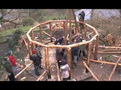 ▶ Hoe bouw je een rond zich zelf dragend dak, maarreh, kan dat dan ook op een vierkant of rechthoekig huis?