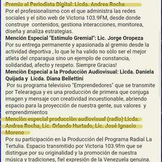 Gracias al Colegio Nacional de #Periodistas de #Aragua por motivarnos a participar. Estoy feliz por mí  y por mis compañeros de @LaTertuliaFM... son 4 años de levantarnos temprano los domingos... ya tocaba. #CNP #Premio #PremioRegionalDePeriodismo2015