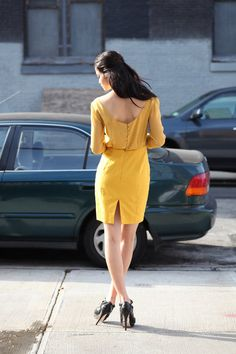 Kiki dress - Burda Style- such a nice back view as well