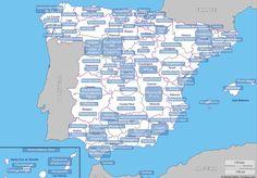 Buenos materiales para propiciar la conversación en clase de cultura: Mapa de estereotipos de España | Berlunes