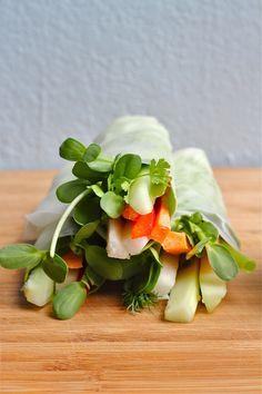 vegetable spring rolls | vegan + gluten free