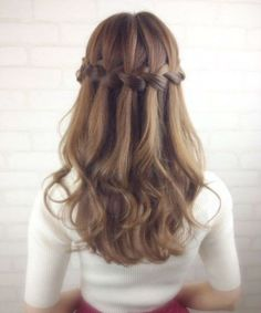 latest Waterfall Braided Hairstyles for Teenage Girls to Consider Right Now Veil Hairstyles, African Hairstyles, Curled Hairstyles, Easy Hairstyles, Wedding Hairstyles, Dutch Braided Hairstyles, Teenage Hairstyles, Fashion Hairstyles, Up Dos