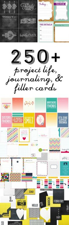 250  FREE Project Life Printables
