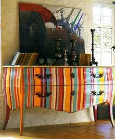 striped painted furniture/love