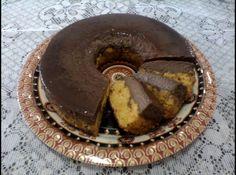 Bolo Pudim de Cenoura e Chocolate http://bit.ly/1mF5LQp