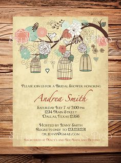 Hey, I found this really awesome Etsy listing at https://www.etsy.com/listing/124259896/vintage-birdcage-invitation-coral-mint
