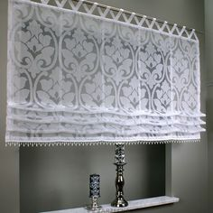 Roksana firana panelowa - EuroFiranki.pl Kitchen Window Curtains, Home Curtains, Country Curtains, Curtains With Blinds, Drapery Styles, Curtain Styles, Curtain Designs, Fabric Window Shades, Decorating Your Home