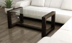 Design Couchtisch wenge Glastisch edel modern Beistelltisch Holzisch   eBay