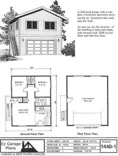 Garage Apartment Plan 85372 | Total Living Area: 1901 sq. ft., 2 ...
