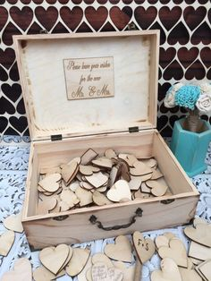 This box is just perfect as a wedding guest book , have all of your guests sign a heart as a remembrance of your special day or use it as a
