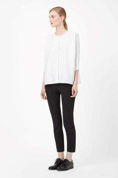 COS | Wide collarless shirt
