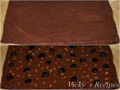 Ruladă cu ciocolată și vișine din dulceață   Vicky's Recipes Recipes, Decor, Decoration, Ripped Recipes, Decorating, Cooking Recipes, Deco
