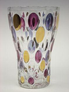 Borské Sklo 'Nemo' glass vase