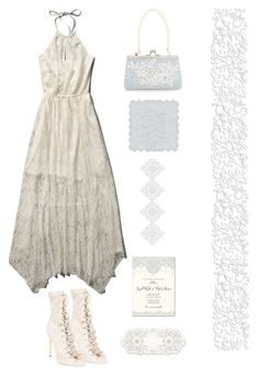 """Something Old,Something New, Something Borrowed,Something Blue"" by youaresofashion ❤ liked on Polyvore featuring Abercrombie & Fitch, Balmain, Monsoon and lacedress"