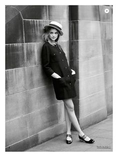 Travel chic in Europe in a shift dress, straw boater hat and mary-jane flats / the love assembly