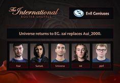 Universe kembali ke EG dan Aui digantikan oleh Zai