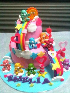 care bears birthday cakes | Care bears and rainbow theme for Emelia's birthday celebration!