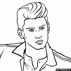 Zayn Malik One Direction Coloring Page Here Is
