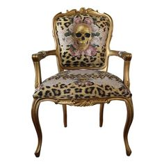 DÖSKALLE STOL - GOLDEN SKULL CHAIR