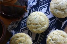 goat cheese and chive corn muffins....@Kati Moss i feel like you'd be a boss at these...