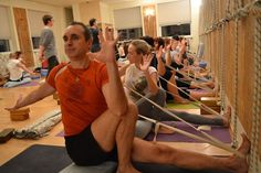 Marichyasana 3 - with a strap to teach the shoulder opening