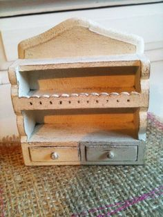 Dolls House Miniature White Shabby Shelf Kitchen by Artistique, £14.00