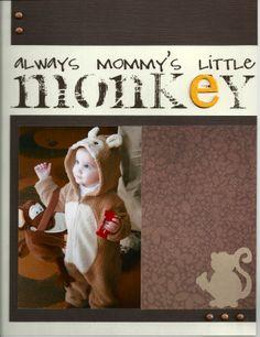 ...little monkey - Scrapbook.com
