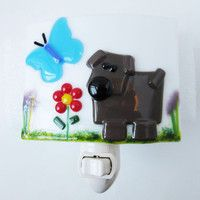 fused glass dog - Google Search