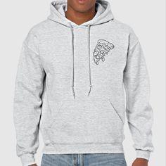 Pizza Slice | Quote Slogan Illustration Personalised Unisex, Tumblr, Blog Fashion Drawing Funny, Hipster, Joke, Gift, Sweater, Sweatshirt, Hoodie, Hooded, Top Men Women Ladies Boy Girl #hoodie #sweaters #fashion #style #animal  #pizza #food