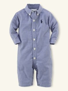 Ralph Lauren Baby Boy Romper.  My son had the short sleeve/shorts version of this when he was younger.  It was sooo adorable on him.  I remember him wearing it at my cousin's wedding.  I don't think I paid very much attention to the actual ceremony.  <3