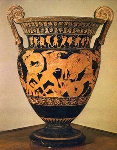 Cratere Euphronius - Arezzo La battaglia di Eracle contro le Amazzoni. Arezzo, Museo Archeologico