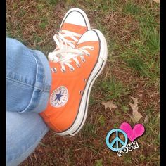 Orange Converse  Hi-Top CHUCKS   Orange Converse  Hi-Top CHUCKS      Size W6    Good, clean Preloved Condition  (NO DEFECTS)   ✌️PRICE IS FIRM UNLESS BUNDLED FOR FOR DISCOUNT NO TRADE   ☮Happy POSHING☮ Converse Shoes Sneakers