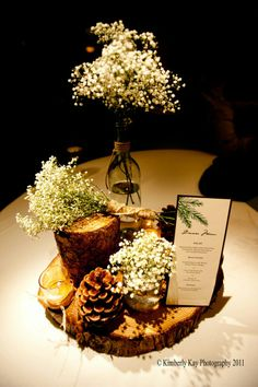 centerpiece for a lodge wedding