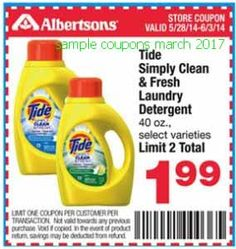 picture regarding Tide Simply Clean Printable Coupons identified as 7 Most straightforward Tide Discount codes illustrations or photos inside of 2014