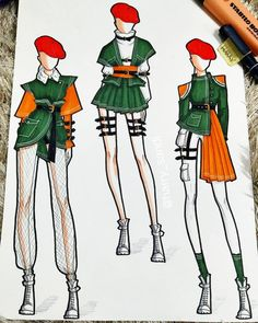 Discover recipes, home ideas, style inspiration and other ideas to try. Fashion Illustration Portfolio, Fashion Illustration Template, Fashion Illustration Dresses, Fashion Design Sketchbook, Fashion Design Portfolio, Fashion Design Drawings, Illustration Mode, Fashion Illustrations, Illustrations Techniques