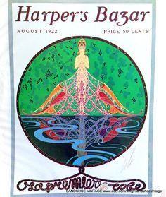 1923 ERTE HARPERS BAZAR Cover Doublesided Art Deco Print Ideal for Framing on Etsy, $9.18 AUD