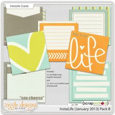 New FREE 4x4 Insta Life Journaling Cards at Persnickety Prints!