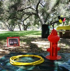 Pictures from Parker's Birthday - Fire Truck/Fireman themed party Birthday Party Games, 1st Boy Birthday, 4th Birthday Parties, Birthday Ideas, Fireman Party, Firefighter Birthday, Firefighter Games, Fireman Sam, Paw Patrol Party
